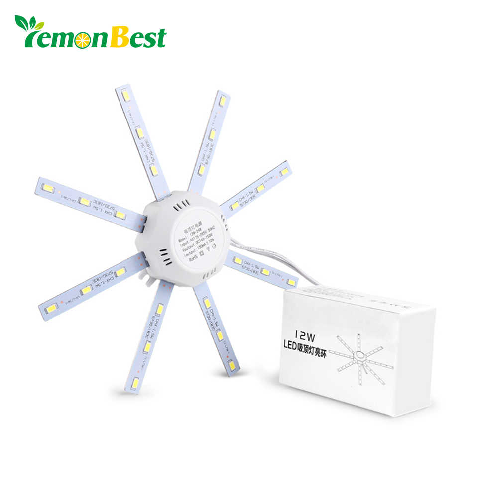 Lemonbest 24W LED Ceiling Lights Fixtures Modified home lighting Source Plated Cool White Ceiling Lamp 5730SMD