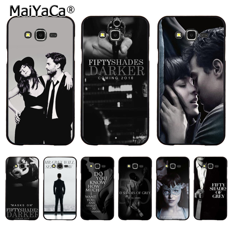 MaiYaCa Fifty Shades of Grey darker Coque Shell Phone Case for Samsung J1 J3 J5 J7 Note 3 Note 4 Note 5