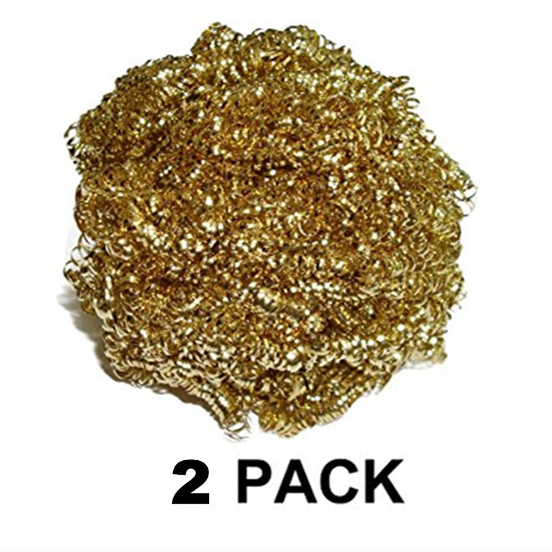 FEITA 2pcs/pack, 2015 High Quality Welding Soldering Solder Iron Tip Cleaners Cleaning Copper Steel Wires Sponge Balls