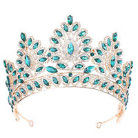 2019 Fashion Tiara Crown for Women Baroque Crystal Headbands Bridal Crowns Bride Diadem for Pageant Prom Wedding Hair Jewelry