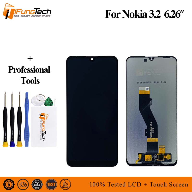 6 26 LCD For Nokia 3 2 LCD Display Touch Screen Digitizer Assembly Replacement For Nokia
