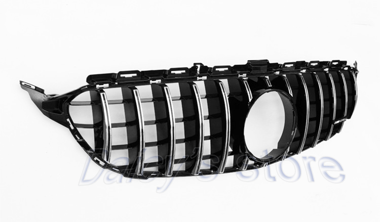 For New C-class W205 Front grill Mercedes-Benz AMG GTR center grille C180  C200 C250 C300 Without central Logo 2014-2017