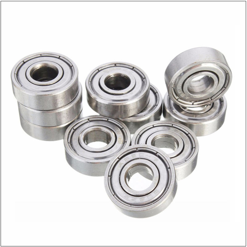 10 Pieces Double Shielded Miniature High-carbon Steel Single Row 608ZZ ABEC-5 Deep Groove Ball Bearing 8*22*7 8x22x7 MM 608 ZZ