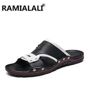 f4e2bd88a3ad9 ramialali Summer Slippers Man Beach Sandals Flip Flop