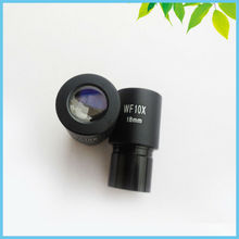A Pair WF10X Eyepiece Wide Field View 18mm Optical Ocular Lens for Biological Microscope Mounting Size 23.2mm