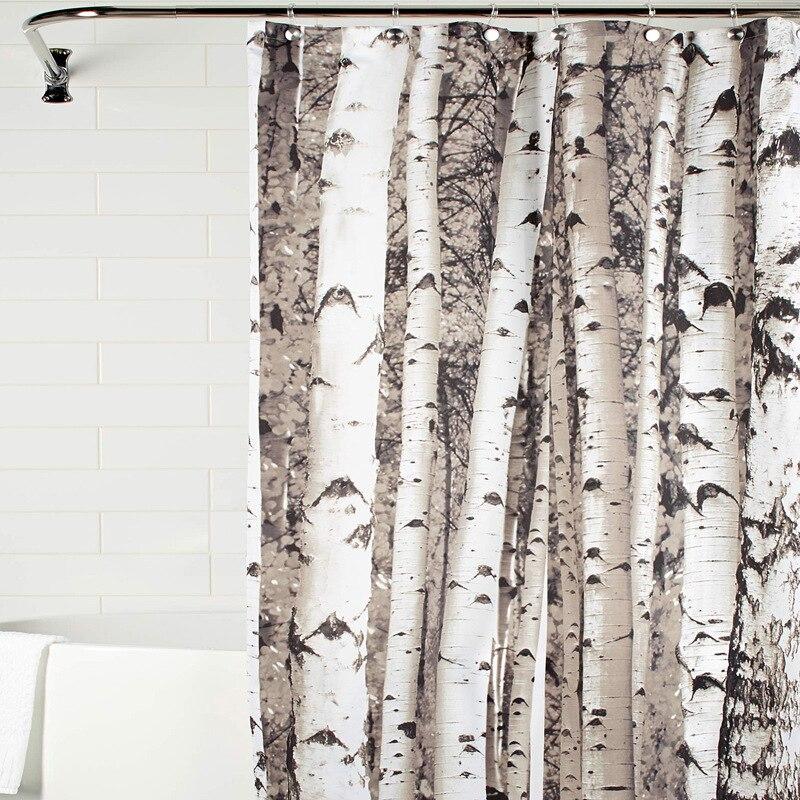 Trunk printing bath curtains suite bathroom polyester waterproof mildew Amazon bathroom hot home decorative shower curtain