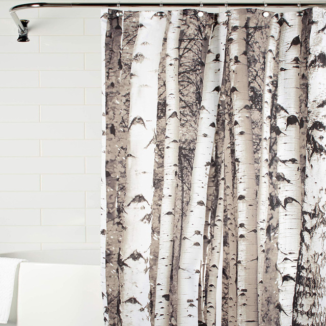 Trunk Printing Bath Curtains Suite Bathroom Polyester Waterproof Mildew Amazon Hot Home Decorative Shower Curtain