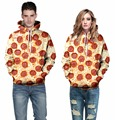 2016 New Fashion Unisex 3D Hooded Sweatshirt Printing Cute Food Pizza Hoody Funny Tracksuit Men/Women Hoodie Pullovers