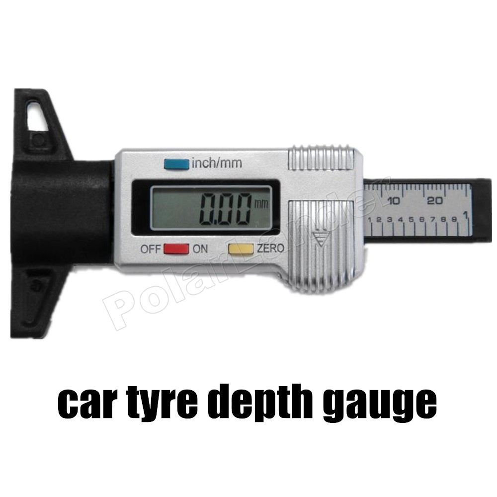 factory price sale car auto Digital LCD Car Motorbike Tyre Tread Depth Gauge/Check/Tester Silver New tool hot sale