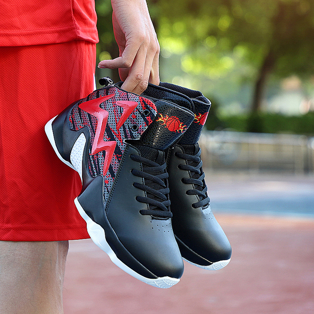 5971b1f52d7 Original Professional Men Basketball Shoes Air Cushion Leather High Ankle  Top Sneakers Footwear Sport LBJ 11 Boy Outdoor Trainer