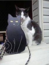 การจัดส่งสินค้าอเมริกาน้ำแบรนด์Modclothด้วยสเตอริโอแมวดาวถุงห่วงโซ่r etroแมวกระเป๋าสะพาย