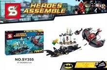 SY355 Building Blocks Super Heroes Avengers MiniFigures Batman/Flash/Wonder Woman Batman Plane Fighter Mini figures Toys