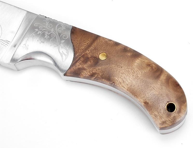 KKWOLF észak-amerikai vad kés kés fix orrszarvú kültéri kemping - Kézi szerszámok - Fénykép 5