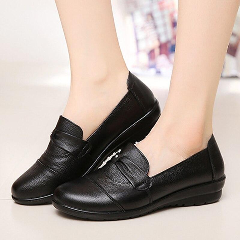 Elegant ladies shoes 2018 fashion genuine leather shoes woman pleated round toe female shoes tenis feminino plus size 35-41 draped pleated plus size tunic top