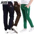 A15 niños pantalones primavera otoño 2017 ropa de los cabritos marcas chicos adolescentes niños Pantalones Ocasionales de Los Deportes Pantalones de Los Niños 8 10 12 14 16 año