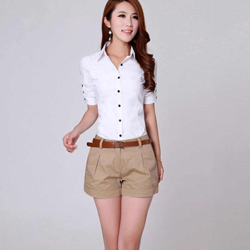 b2d701e470fc ... В Корейском стиле летние женские Рубашки домашние плюс Размеры S-2XL  новый дизайн моды леди ...