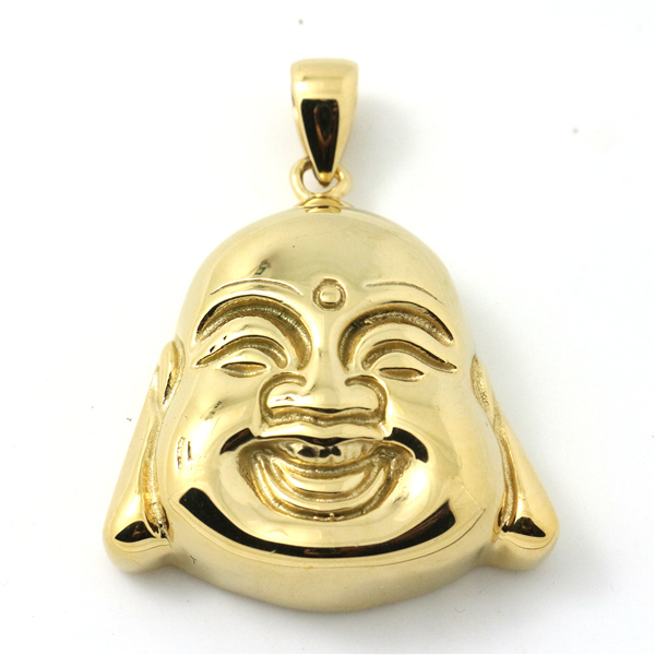 1pc golden happy buddha pendant 316 stainless steel band party punk 1pc golden happy buddha pendant 316 stainless steel band party punk wholesale price golden blessing buddha pendant in pendants from jewelry accessories on mozeypictures Images