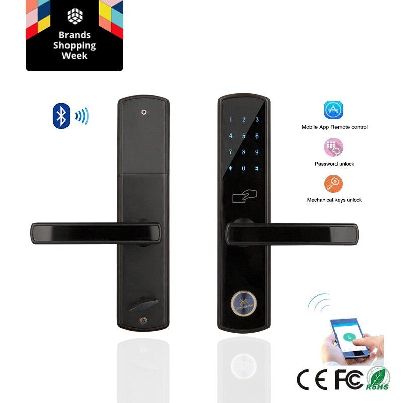 Bluetooth Intelligent Électronique Serrure De Porte Clavier Mortaise Serrure De Porte Pour La Maison Airbnb Maison ou Appartement avec App Télécommande