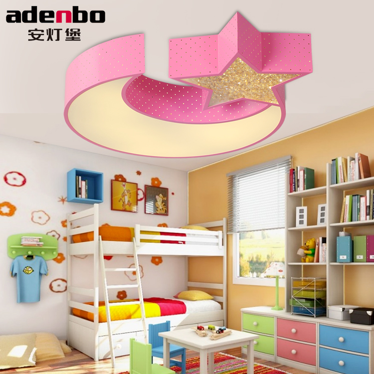 Remote Control Modern LED Ceiling Light Moon And Star Children's Bedroom Lights 24W SMD LED Electrodeless Dimmable Lighting creative lovely cartoon moon and rabbit ceiling lamp smd led electrodeless dimmable light study children boy girl room bedroom