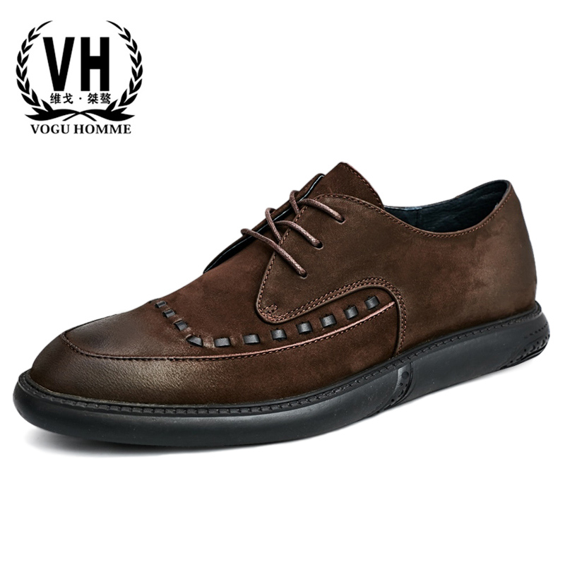 Genuine Leather bullock Mens Shoes Lace Business Leisure Shoes men Breathable Thick Bottom men casual natural leather loafersGenuine Leather bullock Mens Shoes Lace Business Leisure Shoes men Breathable Thick Bottom men casual natural leather loafers