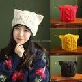 Cute Kawaii Winter Wool Hat Cap Cat Ear Design Asia Style Korea Japan