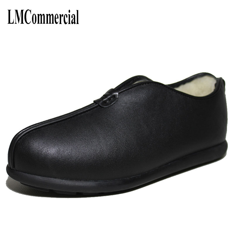 The wind in winter and wool cashmere thermal men shoes leather men cowhide breathable handmade Men Flats dreambox 2017 autumn and winter trends in europe and america woven leather breathable shoes in thick soled sports shoes men