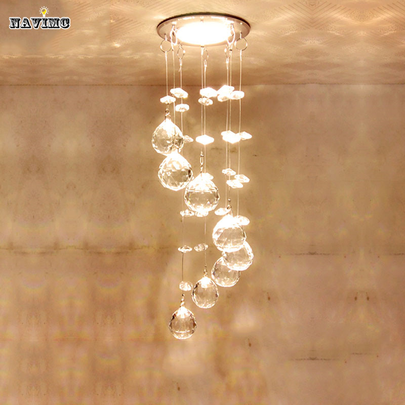 Modern crystal ceiling light fixture spiral crystal lamp crystal modern crystal ceiling light fixture spiral crystal lamp crystal lustre light fitting led lamp for aisle hallway porch staircase in chandeliers from lights aloadofball Images