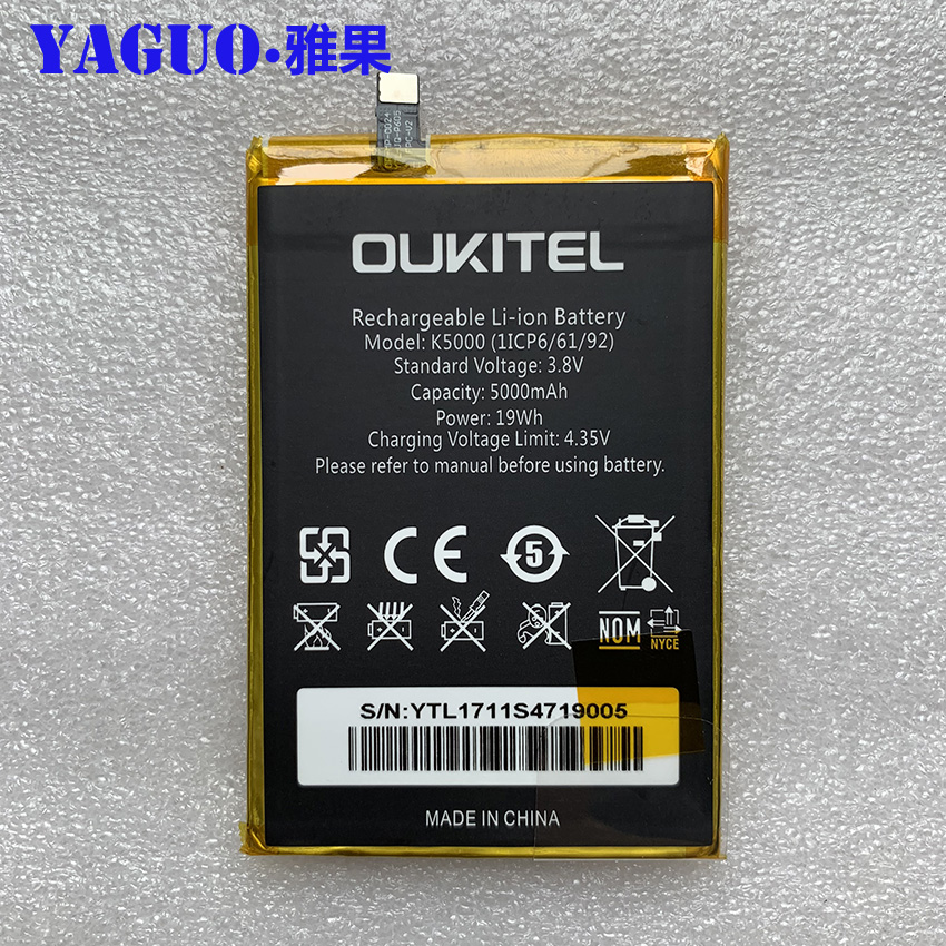 100% Original Full 5000mAh Battery Replacement High Quality Large Capacity Back Up Bateria For Oukitel K5000 Smart Phone100% Original Full 5000mAh Battery Replacement High Quality Large Capacity Back Up Bateria For Oukitel K5000 Smart Phone