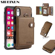 SIBEIXUN Роскошный PU кожаный флип многофункциональный кошелек чехол для iPhone 6 7 8 plus XR XS max кожаный чехол с отделением для карт