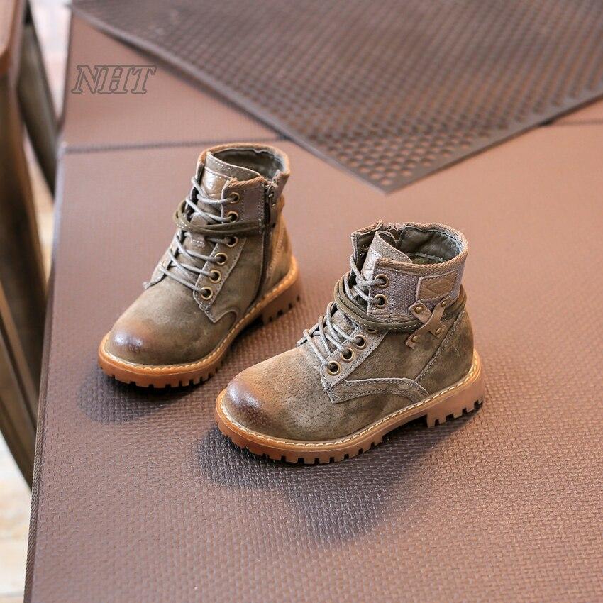 ahorre hasta 80% primer nivel marca popular Occidental botas de cordones de tobillo cruz niños muchacha de los ...