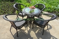 Patio de mimbre silla mesa, jardín al aire libre muebles de ratán uk venta