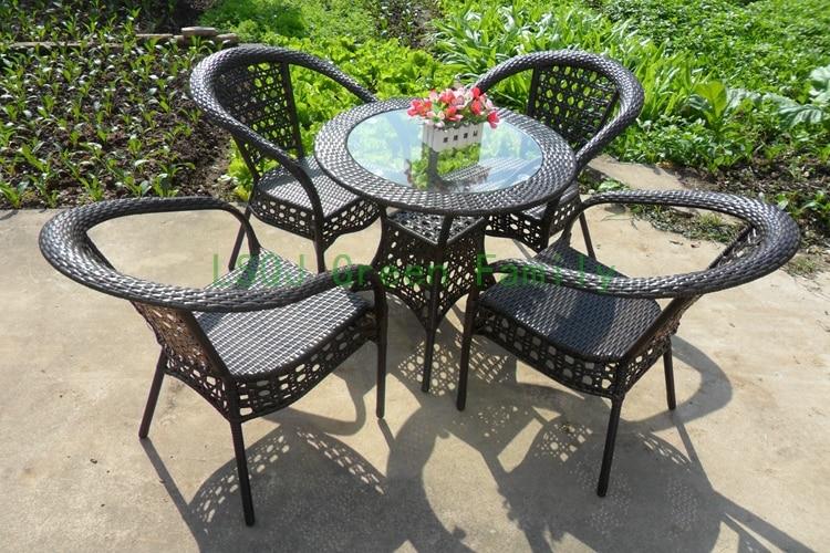 Patio rattan table chair,outdoor garden rattan furniture uk sale