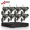 Plug And Play 720 P HD Varifocal 2.8mm-12mm Segurança IR Ao Ar Livre Câmera IP WI-FI H.264 8CH NVR Sistema de CCTV Sem Fio 2 TB HDD