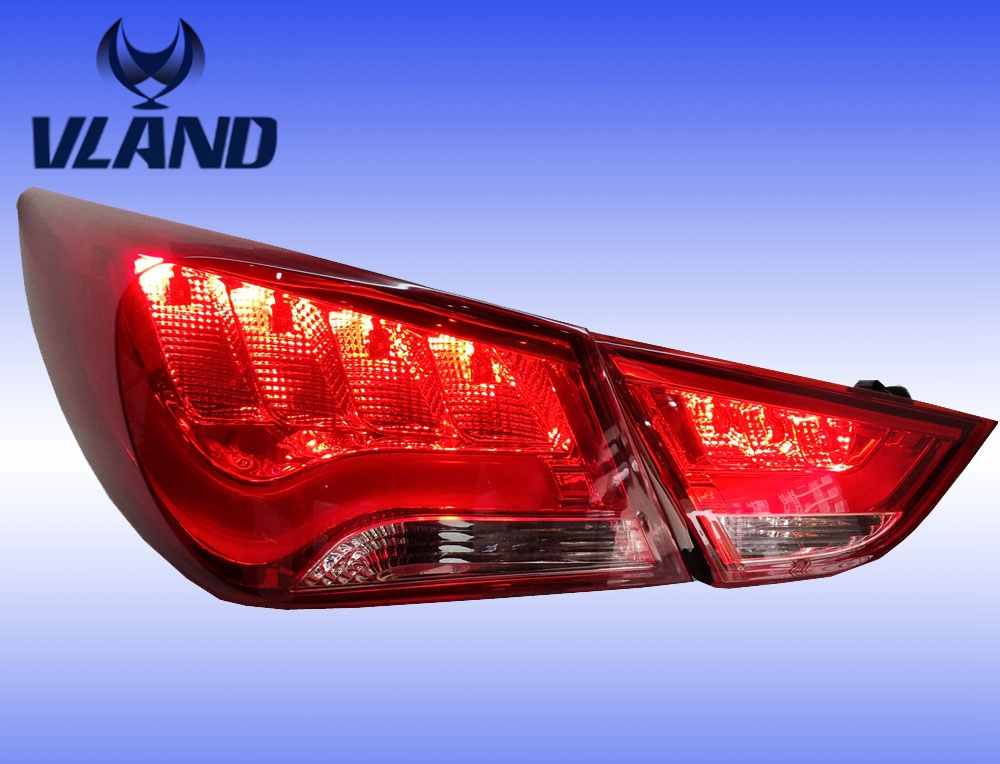 Free shipping Vland 2011-2015 for  Sonata rear lamp car LED light bar Modified taillight factory wholesale free shipping vland factory car parts for camry led taillight 2006 2007 2008 2011 plug and play car led taill lights