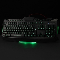 LED Light 3 Colors Backlighting USB Wired 114 Keys Backlit Gaming Game Keyboard For Laptop Desktop