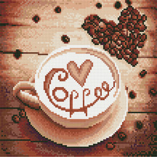 Full diamond painting cross stitch 3D DIY coffee & cup picture  embroidery mosaic pattern handmade home decoration diy diamond painting new full diamond two squirrel 3d diamond pattern picture diamond embroidery mosaic cross stitch home decora