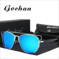 Gochan Brand New Designer Sunglasses Lady Large Polarized Sunglasses Ladies Women Like Different Sunglasses