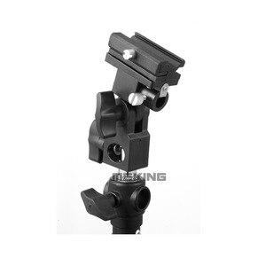 Image 3 - 2pcs Meking Flash Hot Shoe Speedlite Umbrella Mount Holder Swivel for Light Stand Flash Bracket B For Trigger Hot Shoe Flash