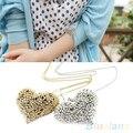 Fashion Women Jewelry Crystal  Statement Bib Pendant Chain Choker Necklace  1P9V