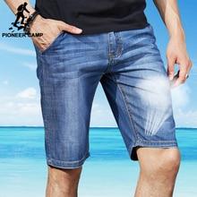 Pioneer Camp 2016 new fashion summer denim shorts men short jeans men jeans slim trousers thin straight jeans men's pants 375507