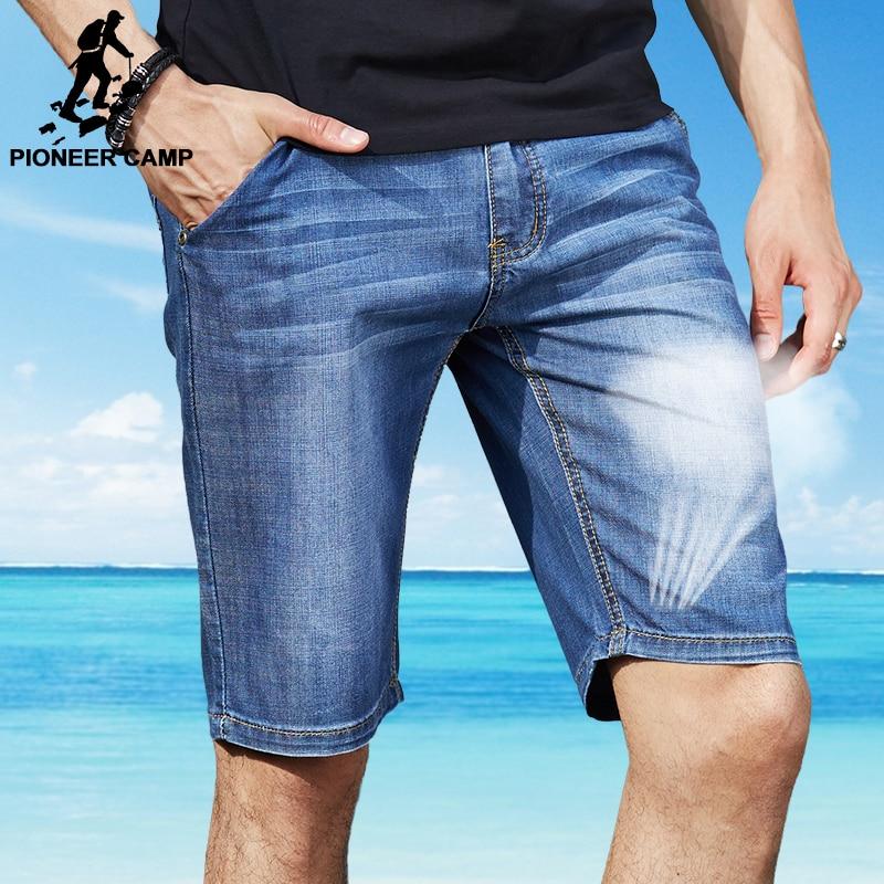Pioneer Camp 2017 new fashion summer denim shorts men short jeans men jeans slim trousers thin straight jeans men's pants 375507 pioneer camp new summer thin jeans men brand clothing casual straight denim pants male top quality denim trousers anz703095