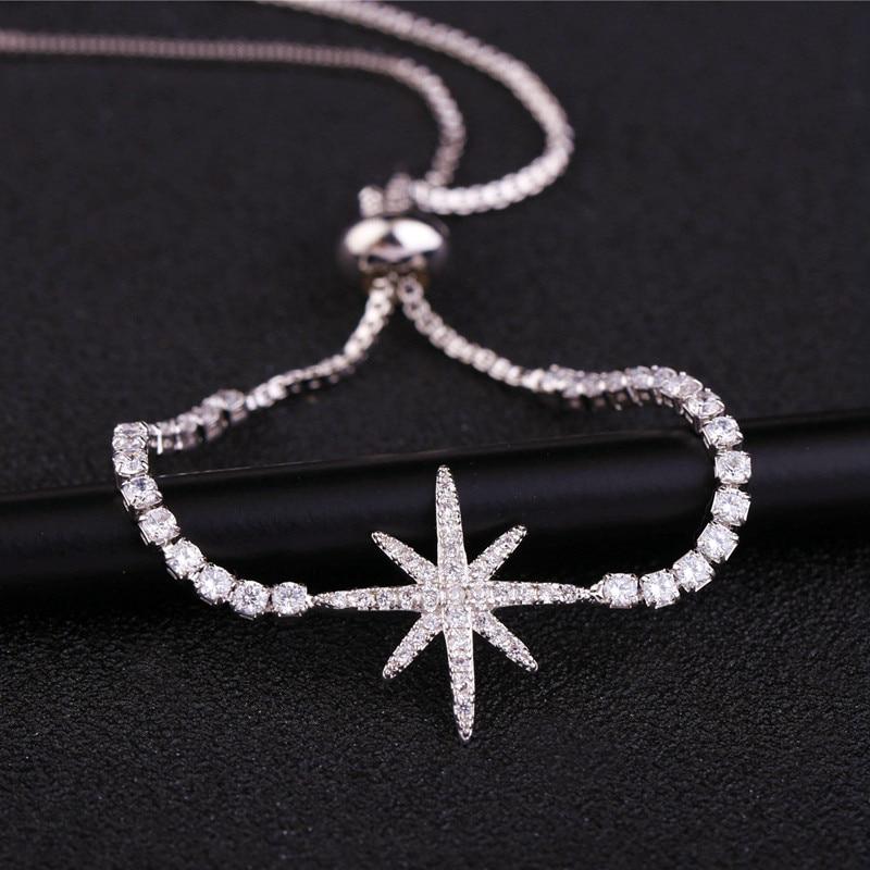 MIGGA Elegant Cubic Zirconia Star Armbånd til Kvinder Hvid / Rose - Mode smykker - Foto 4