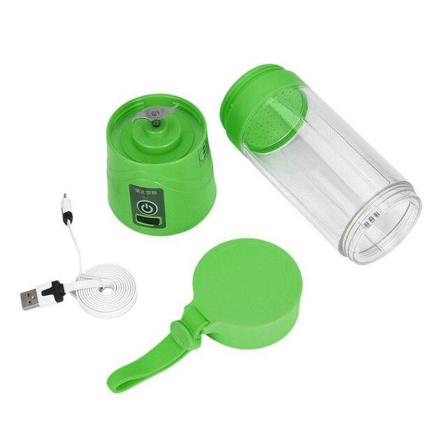 USB החדש 400 ml כוס מסחטה פירות ירקות בלנדר מיץ לסחוט חשמלי כוס 400 מל - משלוח חינם 5