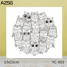AZSG Lovely Owl Clear Stamps/Seals For DIY Scrapbooking/Card Making/Album Decorative Silicone Stamp Crafts