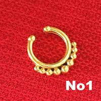 """14g 3/8 """"Mieszane Zamówienie Dla Piercing Fałszywe Srebrny Ze Stali Nierdzewnej Regulowany Etnicznych Indian Przegrody Nose Ring"""