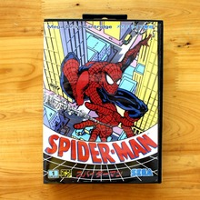 Spider.Man 16 Bit MD Game Card with Retail Box for Sega MegaDrive & Genesis Video Game console system