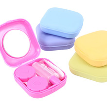 Pocket Mini Contact Lens Case Kit Easy Carry Mirror Container Suitable For Travel Box eyes Outdoor Accessaries