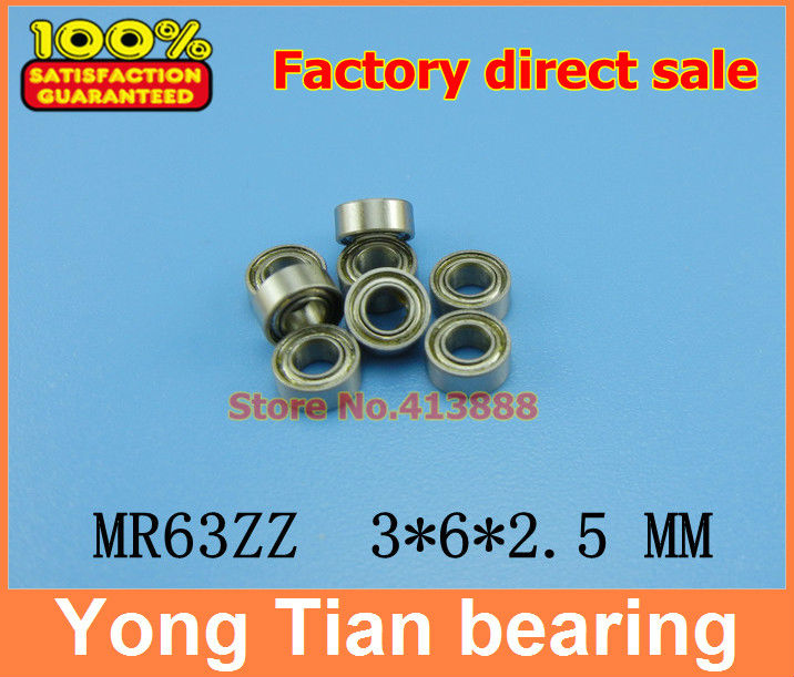 (1pcs) High quality miniature stainless steel deep groove ball bearing (stainless steel 440C material) SMR63ZZ 3*6*2.5 mm smr115 smr115zz l 1150zz stainless steel 440c deep groove ball bearing 5x11x4 mm miniature bearing mr115