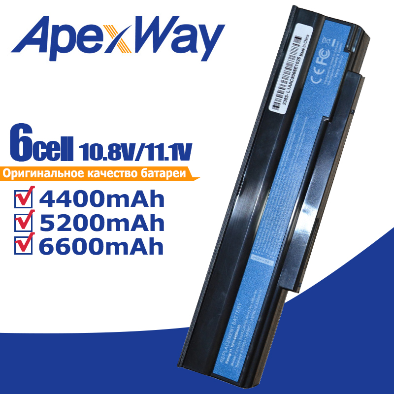 4400mAh 6 cells Battery AS09C31 AS09C70 AS09C71 <font><b>AS09C75</b></font> for AcerExtensa 5235 5635 5635G 5635ZG ZR6 5635Z image