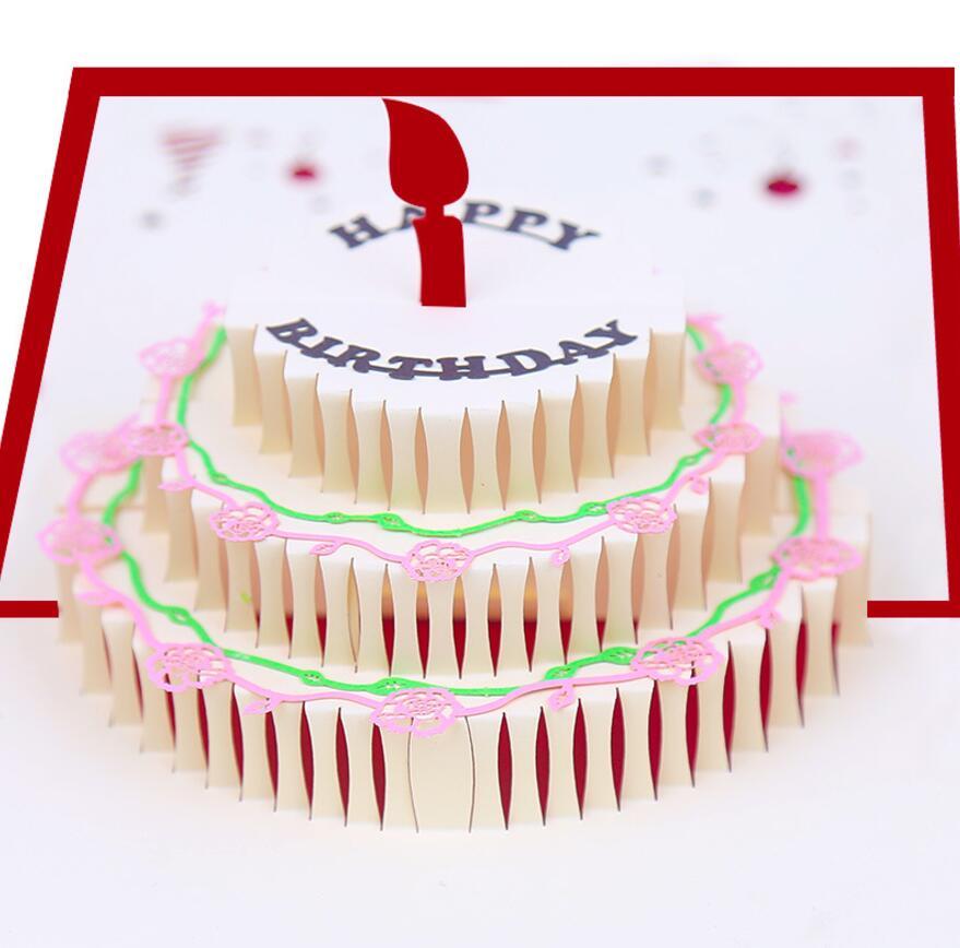 Киригами открытка с днем рождения